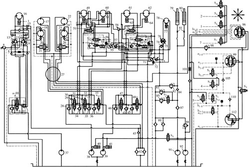 电磁换向阀   s1——卷扬电磁阀 s2——变幅限位电磁阀 s3——主,副图片