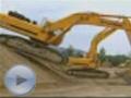 挖掘机比舞 现代挖掘机超强悍表演(视频)
