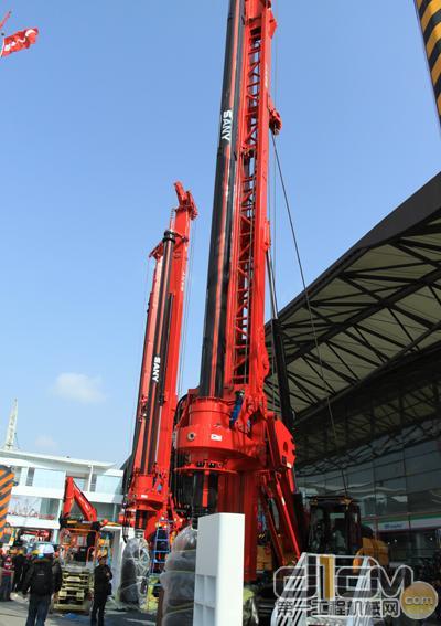 三一旋挖钻机亮相baumachina2010图片