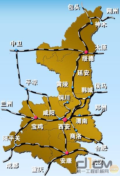 陕西省铁路网