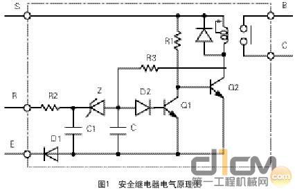 安全继电器电气原理图