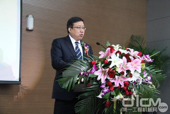 山推工程机械股份有限公司总经理王飞致辞