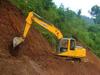 日立挖掘机在拆楼