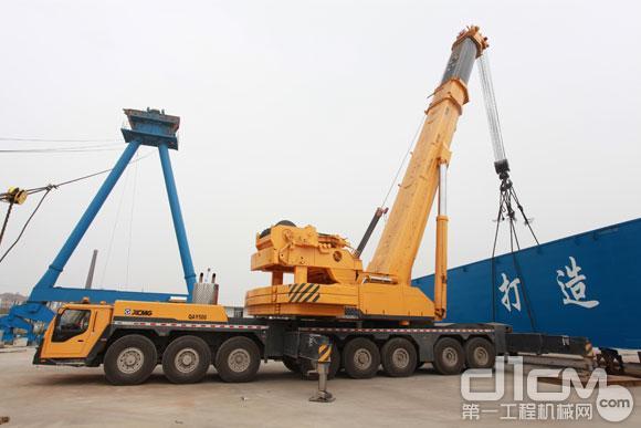 徐工500吨全地面起重机吊装现场直击