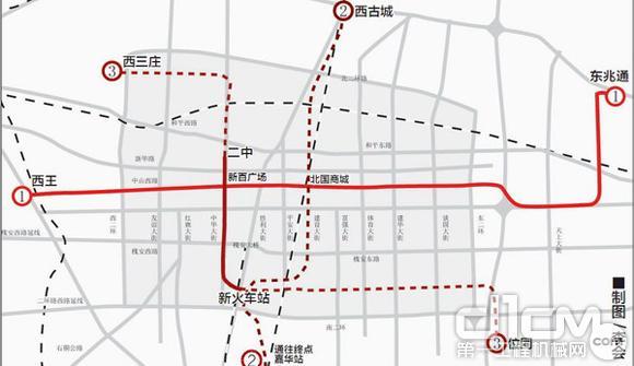 青岛高新区轻轨规划图