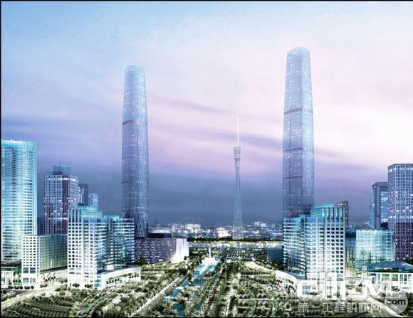 广州东塔设计图