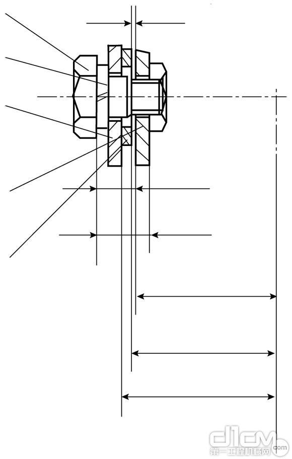 图1 改进前旋转轴结构