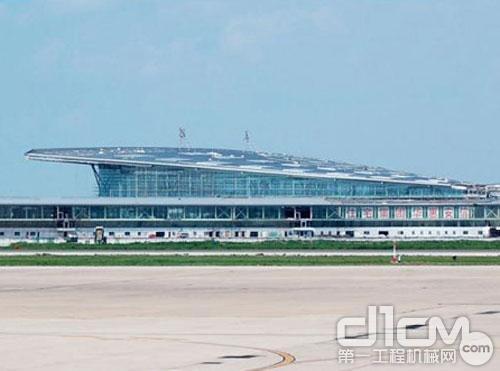 天津滨海机场t2航站楼主体混凝土工程完工
