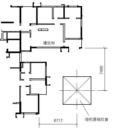 塔机基础与建筑物之间的位置关系