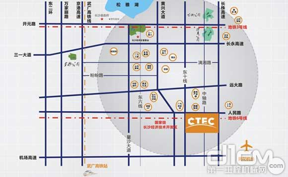 ctec中国(长沙)工程机械交易展示中心项目区域图