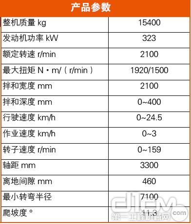 徐工XL210KⅢ型稳定土拌和机主要技术参数