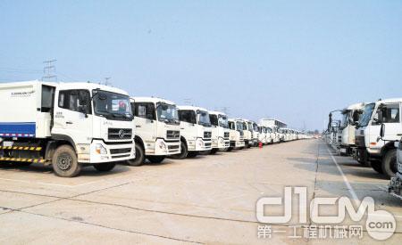 中联重科环卫机械系列产品销售规模稳居全国首位。 邱旸 摄