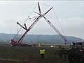 750吨起重机利勃海尔LTM1750侧翻事故现场记录