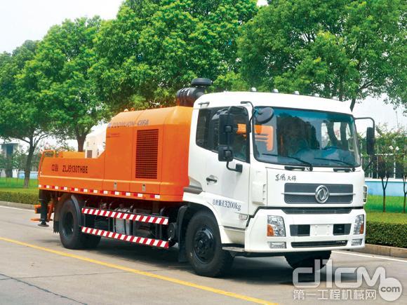 中联重科混凝土高效施工武器:ZLJ5130THBE车载泵