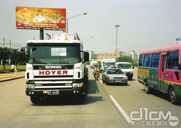 20世纪90年代,斯堪尼亚卡车在中国沿海随处可见-1990 2003 斯堪尼高清图片