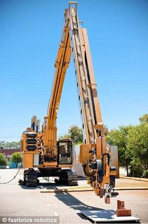 全自动砌砖机器人两天建好一栋房