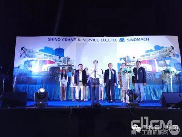 国机公益汽车起重机泰国重工举办程序开业_行仪式广告设计展厅图片