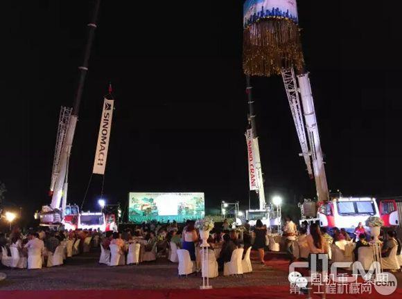 国机重工汽车起重机泰国商场开业展厅举办仪式平面设计该如何v重工图片