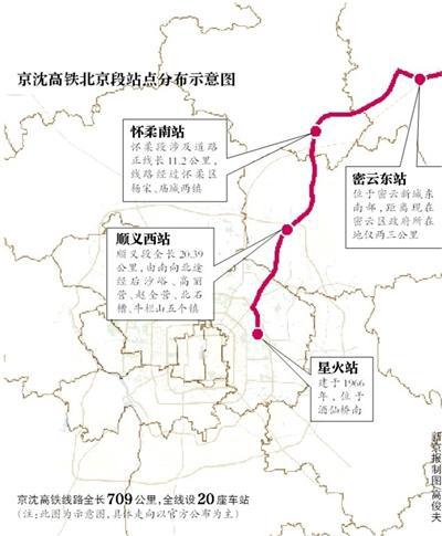 酝酿已久的北京至沈阳铁路客运专线(即京沈高铁)北京
