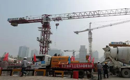 中国尊项目施工现场