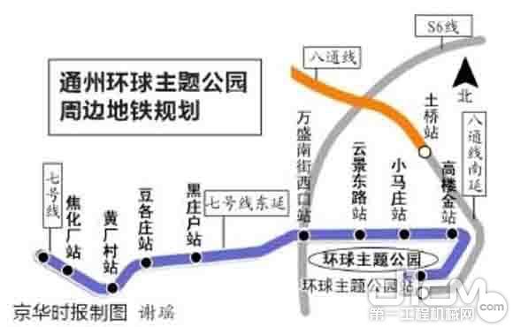 北京地铁7号线线路图-北京地铁7号线东延本月开工 将实现与S6线换乘图片