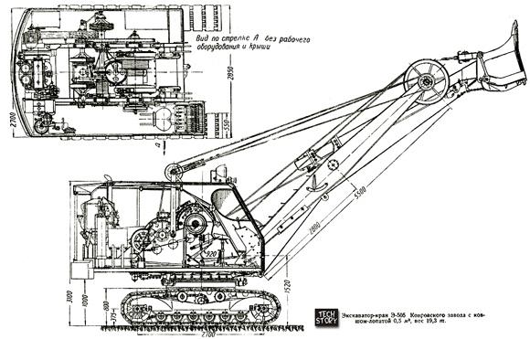 Э-505挖掘机图纸