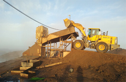 山东临工产品进入东欧金矿市场