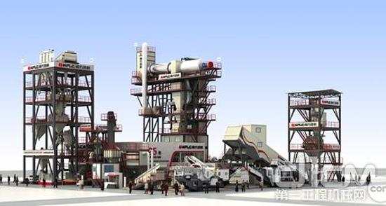 南方路机建材全产业链整体解决方案全套装备亮相宝马展