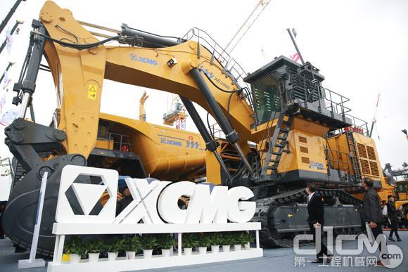 徐工300吨级大型矿用挖掘机亮相宝马展