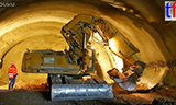 利渤海尔R 944C隧道挖掘机工作