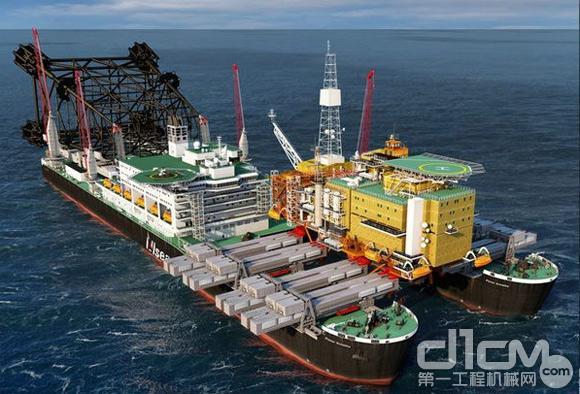 图6:Pieter Schelte号船(世界上最大起重铺管工程船)