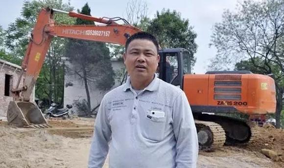 河南王老板的日立挖掘机