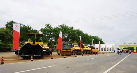 三一路机设备助力缅甸经济动脉大升级