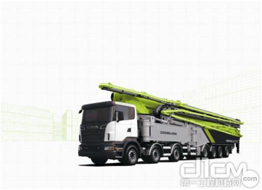 ▲中联重科4.0混凝土泵车。