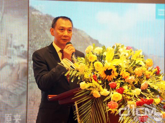 阿特拉斯·科普柯矿山与岩石开挖技术部大中华区总经理文扬之先生致辞