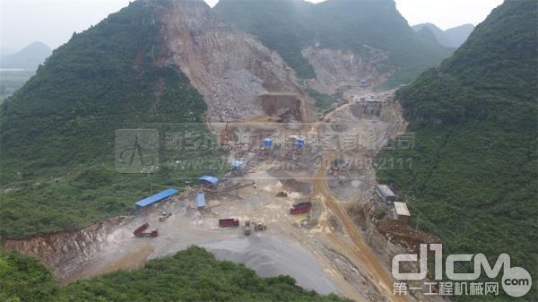 桂林市临桂县顺成石料厂生产线现场