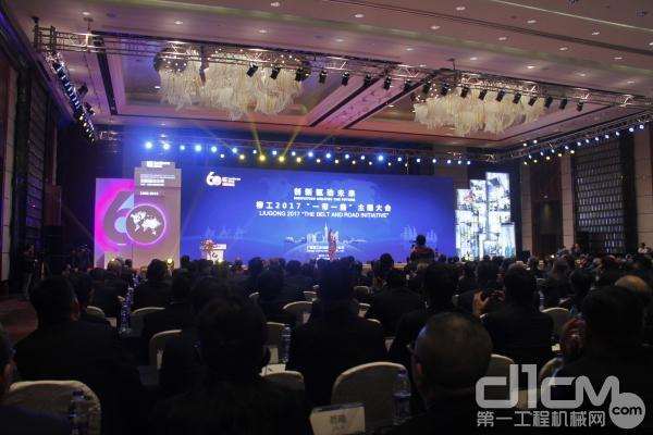 柳工在江苏常州召开2017年全球经销商年会会议现场