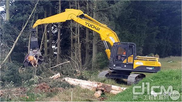 玉柴重工YC310LC-8大型挖掘机征战新西兰市场
