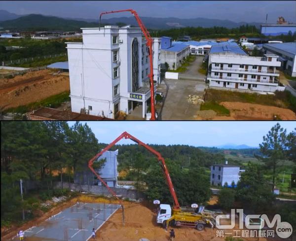 三一C8泵车施工案例