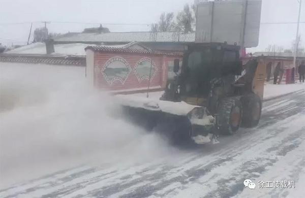 新时代,新农村建设,风雪怎可阻挡。