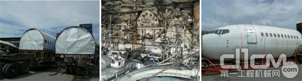 被拆解的大飞机