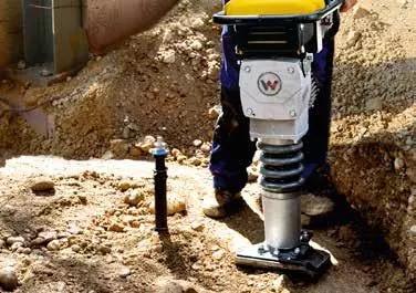 冲击夯:粘性土壤,要求高压实度场合
