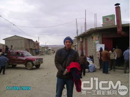 安第斯高原5700米处的矿区 客户走访途中