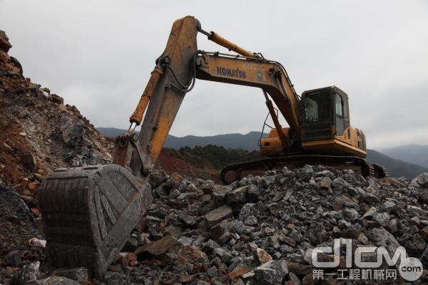 小松挖掘机在福建地区占有率很高