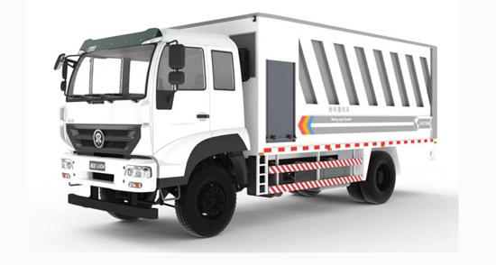 陆达粉料撒布车亮相第七届公路建设与养护新材料、新技术研讨会