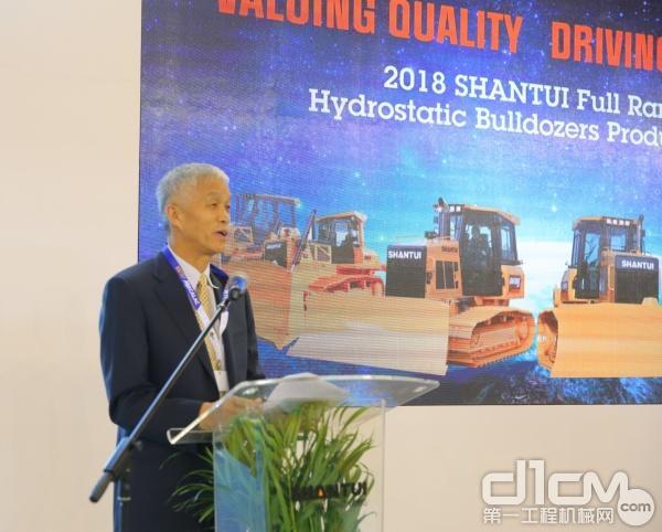 中国工程机械工业协会祁俊会长为此次发布会做总结致辞