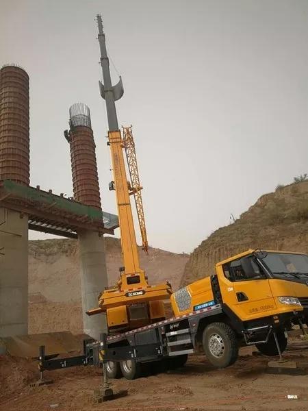 大龙高速准格尔旗段桥梁吊装施工