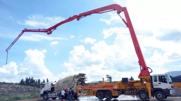 徐工成套混凝土机械设备在埃塞俄比亚施工