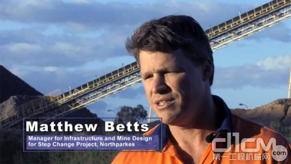 Matthew Betts,北帕克斯矿基础设施和矿山设计改造项目经理