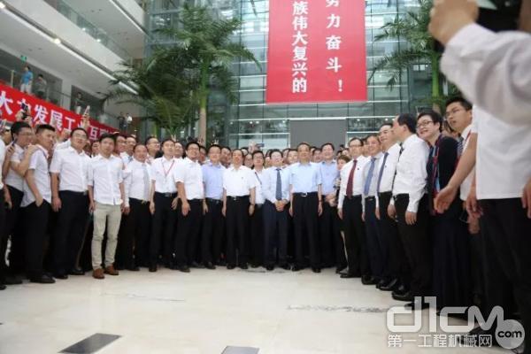 中共中央政治局常委、国务院总理李克强视察三一集团